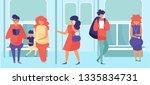people in the subway vector.... | Shutterstock .eps vector #1335834731