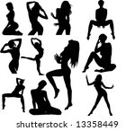 vector collection of woman... | Shutterstock .eps vector #13358449