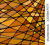 abstract vector stained glass... | Shutterstock .eps vector #1335847577
