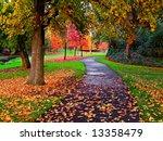 autumn in the park | Shutterstock . vector #13358479