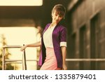 young fashion business woman...   Shutterstock . vector #1335879401