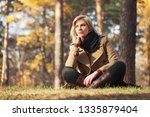 young blonde fashion woman...   Shutterstock . vector #1335879404