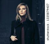 fashion blond business woman...   Shutterstock . vector #1335879407