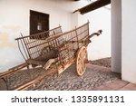 wooden cart in castilla la... | Shutterstock . vector #1335891131