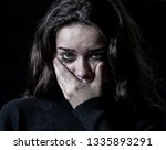 dramatic closeup portrait of...   Shutterstock . vector #1335893291