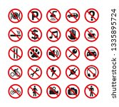 prohibition signs set safety on ... | Shutterstock .eps vector #1335895724