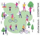 set people in the park | Shutterstock .eps vector #1335897644