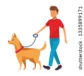 man and dog   Shutterstock .eps vector #1335899171