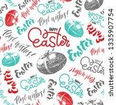 easter hand lettering... | Shutterstock .eps vector #1335907754