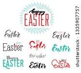 set of easter hand lettering... | Shutterstock .eps vector #1335907757