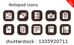 notepad icon set. 10 filled...   Shutterstock .eps vector #1335920711