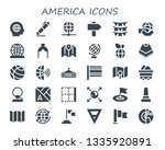 america icon set. 30 filled... | Shutterstock .eps vector #1335920891