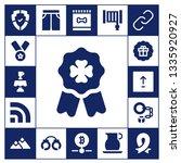 badge icon set. 17 filled badge ... | Shutterstock .eps vector #1335920927