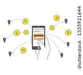 the concept of money transfer...   Shutterstock .eps vector #1335921644