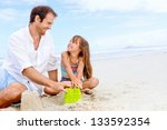 Happy Healthy Family Father And ...