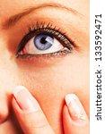 closeup of a caucasian girl's... | Shutterstock . vector #133592471