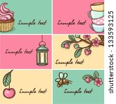 vector collection of cakes... | Shutterstock .eps vector #133593125
