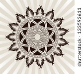 sun ornament | Shutterstock .eps vector #133593611