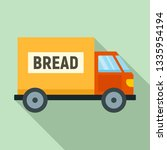 Bread Truck Delivery Icon. Flat ...