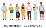 vector iilustration of a group... | Shutterstock .eps vector #1335964154