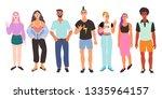 vector iilustration of a group... | Shutterstock .eps vector #1335964157