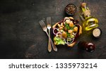 marinated mushrooms with onions ... | Shutterstock . vector #1335973214