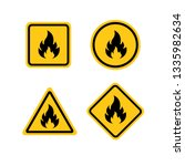 fire warning dangerous flame... | Shutterstock .eps vector #1335982634