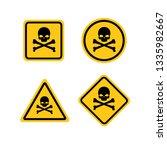 skull and bones logo warning... | Shutterstock .eps vector #1335982667