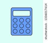 small calculator mono color...
