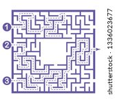 illustration with labyrinth ... | Shutterstock .eps vector #1336023677