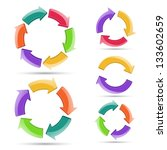 circle arrows to your business... | Shutterstock . vector #133602659