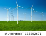 wind turbine as renewable... | Shutterstock . vector #133602671