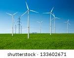 wind turbine as renewable... | Shutterstock . vector #133602671