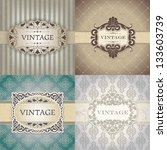 set of vintage frame | Shutterstock .eps vector #133603739