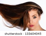 woman with beautiful hair | Shutterstock . vector #133604045