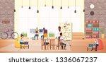business people work rest in... | Shutterstock .eps vector #1336067237