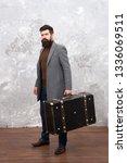 luggage insurance. man well... | Shutterstock . vector #1336069511