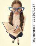 schoolgirl heart shaped glasses ... | Shutterstock . vector #1336071257