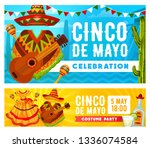 cinco de mayo holiday mariachi... | Shutterstock .eps vector #1336074584