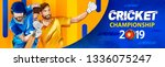 cricket match between india vs...   Shutterstock .eps vector #1336075247