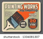 painting works and home repairs ... | Shutterstock .eps vector #1336081307