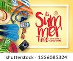 summer time realistic vector...   Shutterstock .eps vector #1336085324