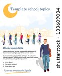 template for advertising school ... | Shutterstock .eps vector #133609034