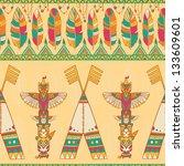 native american indigenous... | Shutterstock .eps vector #133609601