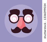 april fools day with crazy face ... | Shutterstock .eps vector #1336099034