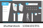 exterior and interior... | Shutterstock .eps vector #1336101551