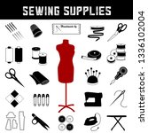 sewing and tailoring supplies... | Shutterstock .eps vector #1336102004