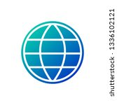 globe earth grid icon vector...