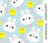 Seamless Pattern. White Rabbit...
