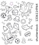 cute cat doodle cartoon   Shutterstock .eps vector #1336114964